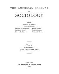 American Journal of Sociology : 1897 Vol... Volume Vol. 3 by Abbott, Andrew