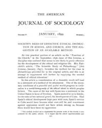 American Journal of Sociology : 1899 Vol... Volume Vol. 4 by Abbott, Andrew