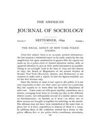 American Journal of Sociology : 1899 Vol... Volume Vol. 5 by Abbott, Andrew
