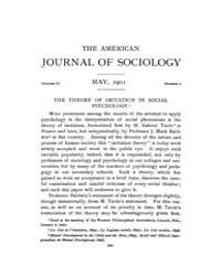 American Journal of Sociology : 1901 Vol... Volume Vol. 6 by Abbott, Andrew