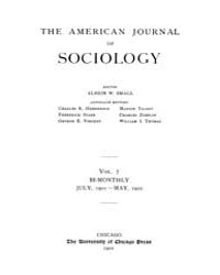 American Journal of Sociology : 1901 Vol... Volume Vol. 7 by Abbott, Andrew