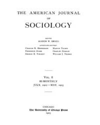American Journal of Sociology : 1902 Vol... Volume Vol. 8 by Abbott, Andrew