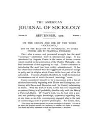 American Journal of Sociology : 1903 Vol... Volume Vol. 9 by Abbott, Andrew