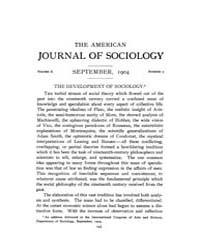 American Journal of Sociology : 1904 Vol... Volume Vol. 10 by Abbott, Andrew