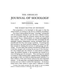 American Journal of Sociology : 1904 Vol... Volume Vol. 10 by Abbott, Andrew