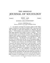 American Journal of Sociology : 1906 Vol... Volume Vol. 11 by Abbott, Andrew