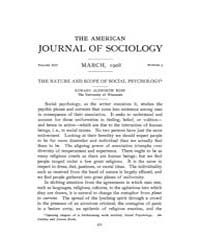 American Journal of Sociology : 1908 Vol... Volume Vol. 13 by Abbott, Andrew