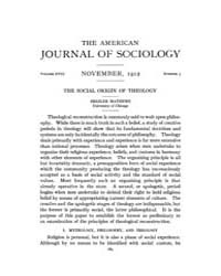 American Journal of Sociology : 1912 Vol... Volume Vol. 18 by Abbott, Andrew