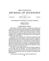 American Journal of Sociology : 1913 Vol... Volume Vol. 18 by Abbott, Andrew