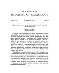 American Journal of Sociology : 1913 Vol... Volume Vol. 18 by Abbott, Andrew