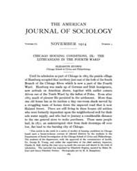 American Journal of Sociology : 1914 Vol... Volume Vol. 20 by Abbott, Andrew