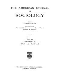 American Journal of Sociology : 1917 Vol... Volume Vol. 23 by Abbott, Andrew