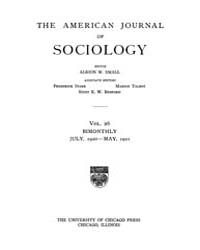 American Journal of Sociology : 1920 Vol... Volume Vol. 26 by Abbott, Andrew