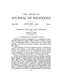 American Journal of Sociology : 1921 Vol... Volume Vol. 26 by Abbott, Andrew