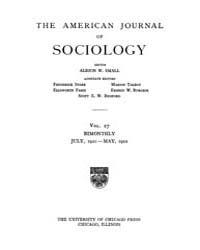 American Journal of Sociology : 1921 Vol... Volume Vol. 27 by Abbott, Andrew