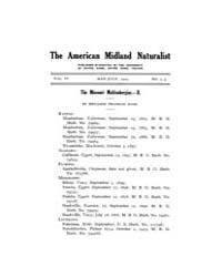 American Midland Naturalist : 1919 Vol. ... Volume Vol. 6 by