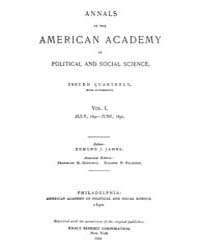 Annals of the American Academy of Politi... Volume Vol. 1 by Wood, Emily