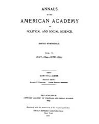 Annals of the American Academy of Politi... Volume Vol. 5 by Wood, Emily
