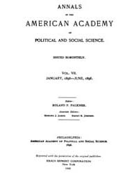 Annals of the American Academy of Politi... Volume Vol. 7 by Wood, Emily