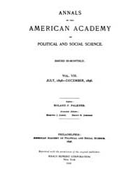 Annals of the American Academy of Politi... Volume Vol. 8 by Wood, Emily