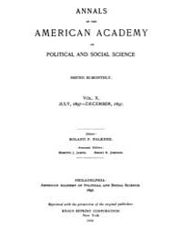Annals of the American Academy of Politi... Volume Vol. 10 by Wood, Emily