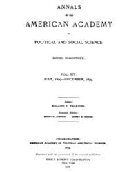 Annals of the American Academy of Politi... Volume Vol. 14 by Wood, Emily