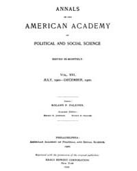 Annals of the American Academy of Politi... Volume Vol. 16 by Wood, Emily