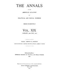 Annals of the American Academy of Politi... Volume Vol. 19 by Wood, Emily