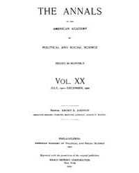 Annals of the American Academy of Politi... Volume Vol. 20 by Wood, Emily