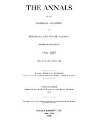 Annals of the American Academy of Politi... Volume Vol. 25 by Wood, Emily