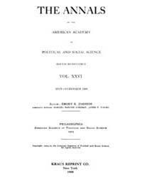 Annals of the American Academy of Politi... Volume Vol. 26 by Wood, Emily