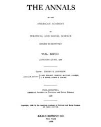 Annals of the American Academy of Politi... Volume Vol. 27 by Wood, Emily