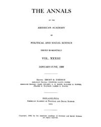 Annals of the American Academy of Politi... Volume Vol. 33 by Wood, Emily