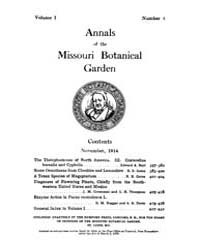 Annals of the Missouri Botanical Garden ... Volume Vol. 1 by