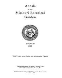 Annals of the Missouri Botanical Garden ... Volume Vol. 2 by