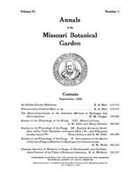 Annals of the Missouri Botanical Garden ... Volume Vol. 6 by
