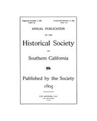 Annual Publication of the Historical Soc... Volume Vol. 6 by Pioneers of Los Angeless Country