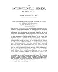 Anthropological Review : 1867 Vol. 5 No.... Volume Vol. 5 by Jackson, Baird, Jason