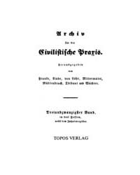 Archiv Für Die Civilistische Praxis : 18... by Bork, Reinhard