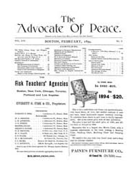 The Advocate of Peace (1894-1920) : 1894... Volume Vol. 56 by