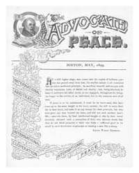 The Advocate of Peace (1894-1920) : 1899... Volume Vol. 61 by