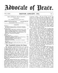 The Advocate of Peace (1894-1920) : 1901... Volume Vol. 63 by