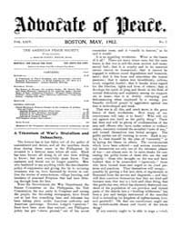 The Advocate of Peace (1894-1920) : 1902... Volume Vol. 64 by