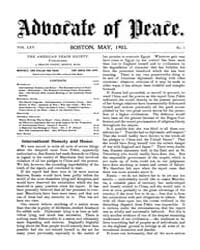 The Advocate of Peace (1894-1920) : 1903... Volume Vol. 65 by