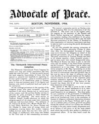 The Advocate of Peace (1894-1920) : 1904... Volume Vol. 66 by