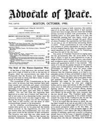 The Advocate of Peace (1894-1920) : 1905... Volume Vol. 67 by
