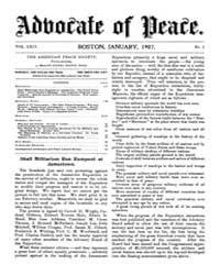 The Advocate of Peace (1894-1920) : 1907... Volume Vol. 69 by