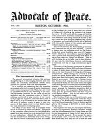 The Advocate of Peace (1894-1920) : 1908... Volume Vol. 70 by