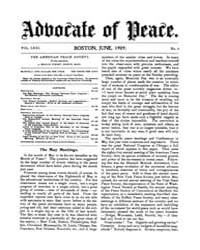 The Advocate of Peace (1894-1920) : 1909... Volume Vol. 71 by