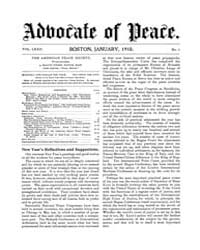 The Advocate of Peace (1894-1920) : 1910... Volume Vol. 72 by